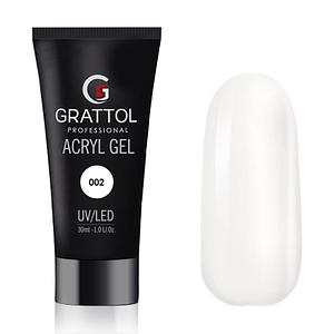 AcrylGel White do przedłużania Grattol 30g 1