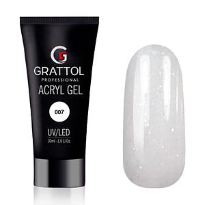 Grattol AcrylGel Glitter White 30g