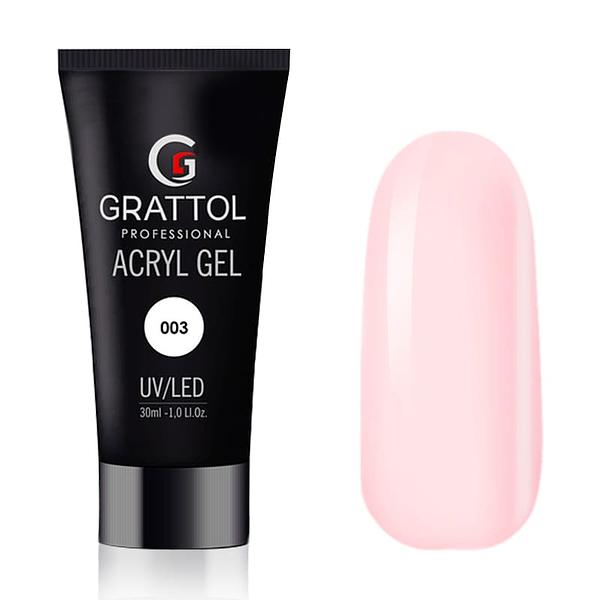 AcrylGel Light Pink do przedłużania Grattol 30g