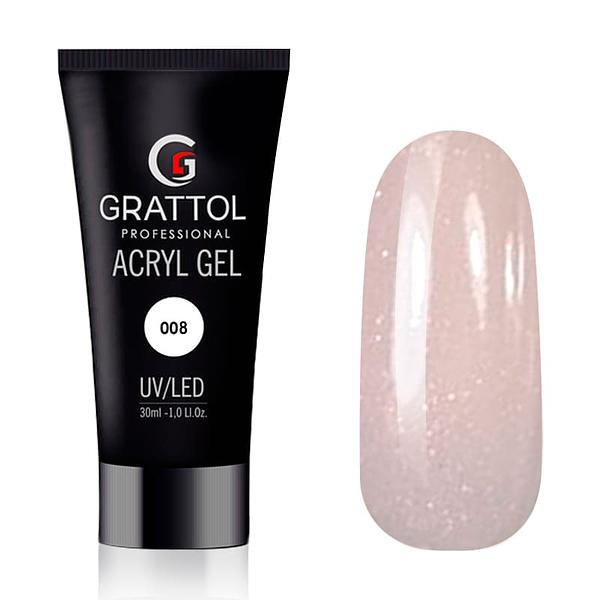 Grattol AcrylGel Glitter Nude 30g 1