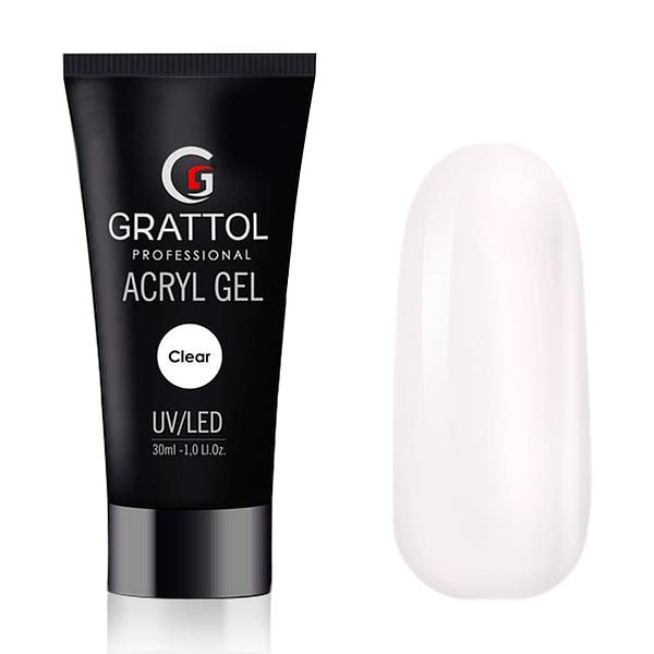 AcrylGel Clear do przedłużania Grattol 30g