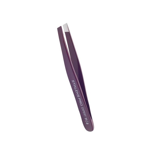 Pęseta do brwi STALEKS PRO EXPERT 11 TYPE 3 TE-11/3 Purple 3